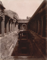 The baoli or step-well on the side of the Agra road near Hakim''s Baths, Fatehpur Sikri